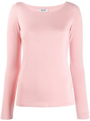 Liu Jo Fitted Round Neck Jumper Pink