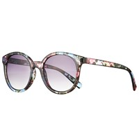John Lewis Floral Preppy Sunglasses Multi Purple Gradient