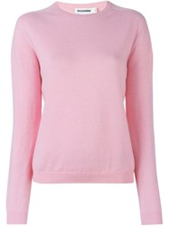 Jil Sander Crew Neck Sweater Pink And Purple