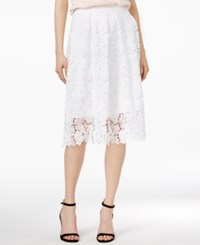 Maison Jules Crochet Lace Skirt Only At Macy's Bright White