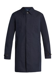 Polo Ralph Lauren Single Breasted Cotton Blend Trench Coat Navy
