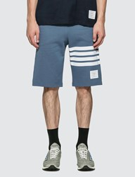 Thom Browne Classic 4 Bar Sweat Shorts Blue