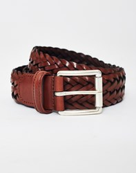 Andersons Anderson's Leather Woven Belt Brown