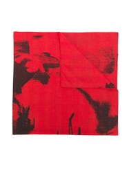 Calvin Klein 205W39nyc Painted Look Scarf Red