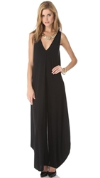 Rachel Zoe Arlene Draped Maxi Dress Black