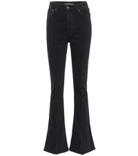 Y Project High Rise Slim Flared Jeans Black