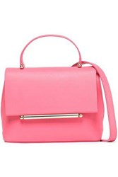 Delpozo Mini Bo Embellished Leather Shoulder Bag Pink