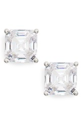 Nordstrom Women's Cubic Zirconia Stud Earrings Clear Silver