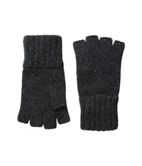 The Taylor Fingerless Gloves Charcoal Wool Gloves Gray