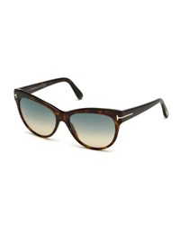 Tom Ford Lily Cat Eye Sunglasses Dark Havana