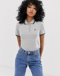 Fred Perry Twin Tipped Polo Shirt Gray