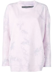 Raquel Allegra Tie Dye Jumper Purple