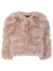 Jocelyn Faux Fur Cropped Jacket 60