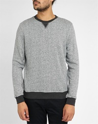 Hartford Mottled Grey Blue Cotton Terry Sweatshirt