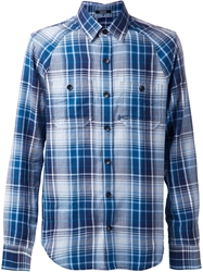 Denham Jeans Denham Plaid Shirt Blue