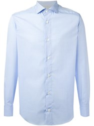 Eleventy Long Sleeve Shirt Blue