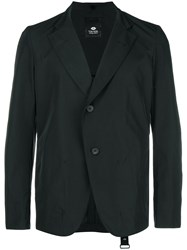Tom Rebl Asymmetric Buttoned Jacket Black