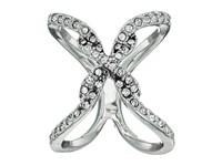 Guess Pave Open Crisscross Ring Silver Crystal Ring