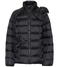 Red Valentino Quilted Down Jacket Black