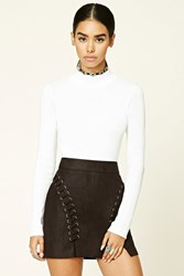 Forever 21 Faux Suede Mini Skirt Black