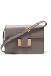 Tom Ford Sienna Small Leather Shoulder Bag Gray