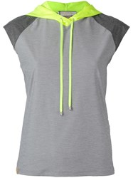 Monreal London Sleeveless Performance Hoodie Grey