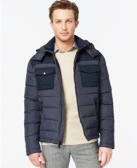 Kenneth Cole Hooded Puffer Jacket Navy
