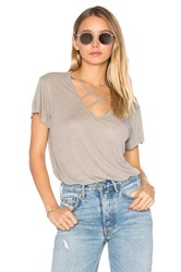 Lna Triple Cross Tee Taupe