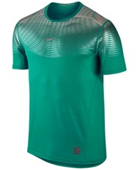 Nike Men's Hypercool Dri Fit Max Fitted T Shirt Teal