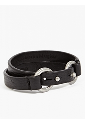 Maison Martin Margiela 11 Men's Black Double Band Leather Bracelet