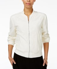 Rachel Roy Lace Bomber Jacket Only At Macy's Ivory