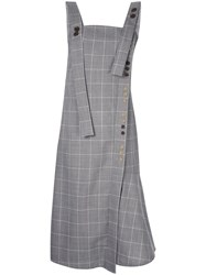 Eudon Choi Checked Overall Dress Grey