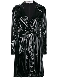 Galvan Gloss Belted Trench Coat Black