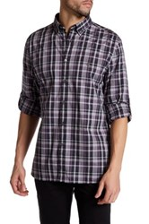 John Varvatos Peace Plaid Trim Fit Shirt Purple
