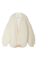 I Love Mr. Mittens Slouch Knit Cardigan Off White