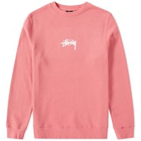 Stussy Stock Crew Sweat Pink