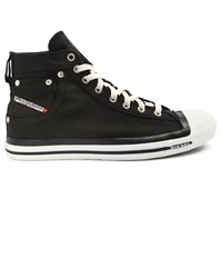 Diesel Exposure Black Denim High Top Sneakers