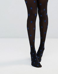 Jonathan Aston Star Tights Black Blue