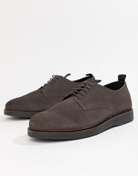 Hudson H By Barnstable Derby Shoes Grey Suede