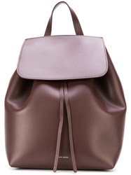 Mansur Gavriel Drawstring Backpack Women Leather One Size Brown