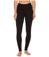 Lucy To The Barre Textured Leggings Black Women's Workout