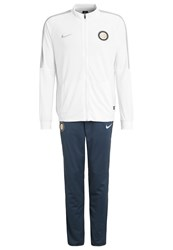Nike Performance Inter Mailand Tracksuit White Squadron Blue Wolf Grey