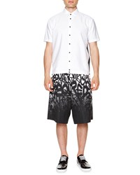 Dsquared2 Short Sleeve Shirt With Mesh Panels White