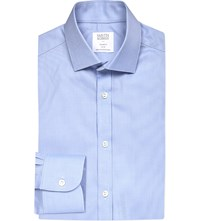 Smyth And Gibson Royal Oxford Tailored Fit Cotton Shirt Sky