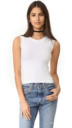 Free People Cropped Seamless Muscle Tank White