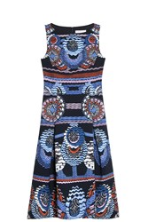 Peter Pilotto Travel Print Dress Navy