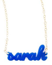 Personalized Acrylic Name Pendant Necklace Moon And Lola Hot Pink