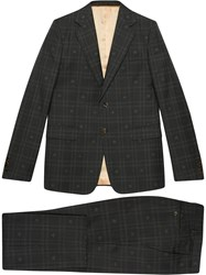 Gucci Checked Bee Embroidered London Suit 60