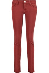 M Missoni Low Rise Straight Leg Jeans Red