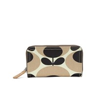 Orla Kiely Women's Stem Big Zip Wallet Nude